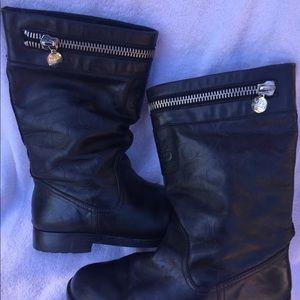 Coach black vinni boots SZ 8.5